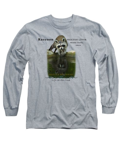 Raccoon Puzzler And Mastermind Long Sleeve T-Shirt