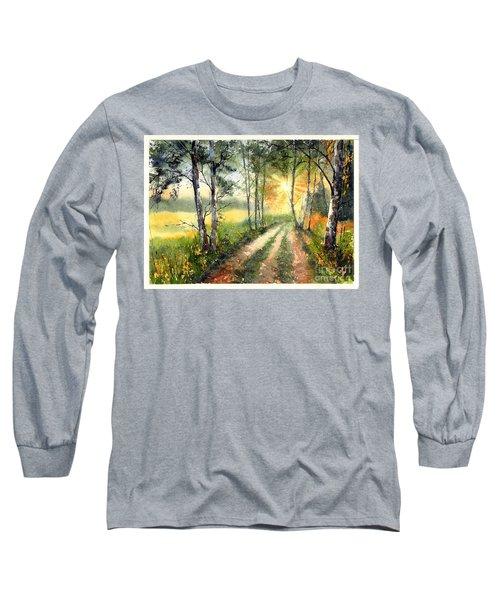 Radiant Sun On The Autumn Sky Long Sleeve T-Shirt