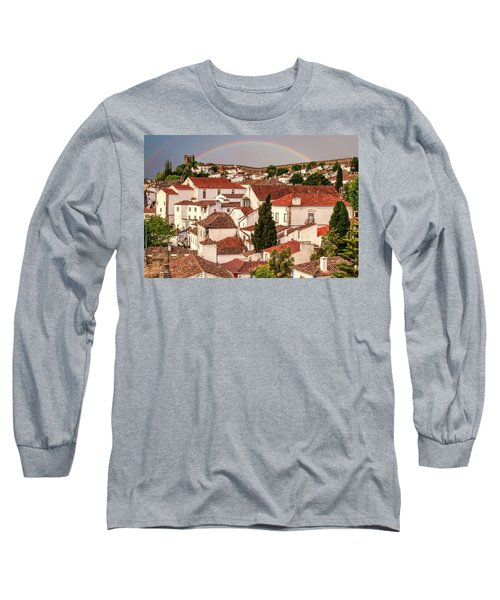 Rainbow Over Castle Long Sleeve T-Shirt
