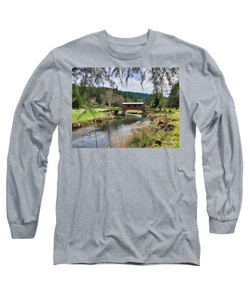 Ranch Hills Covered Bridge Long Sleeve T-Shirt