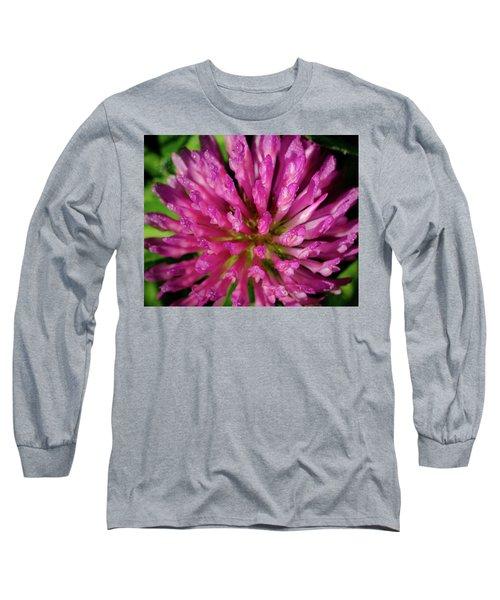 Red Clover Flower Long Sleeve T-Shirt