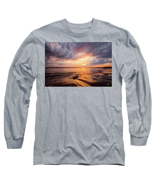 Reflect The Drama, Sunset At Fort Foster Park Long Sleeve T-Shirt