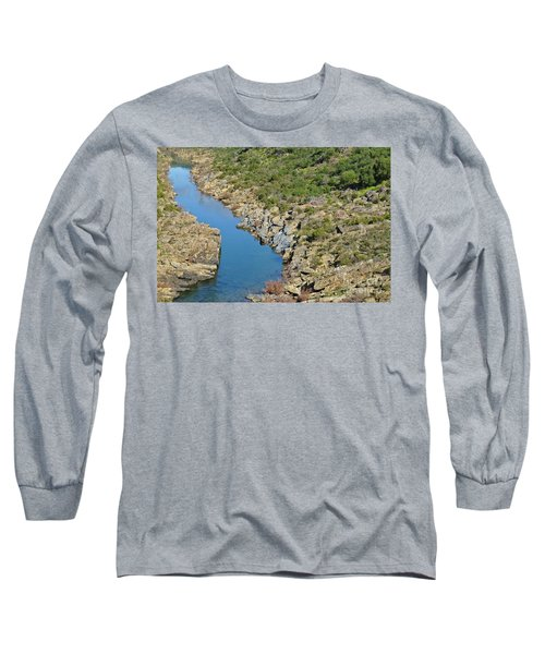 River On The Rocks. Color Version Long Sleeve T-Shirt