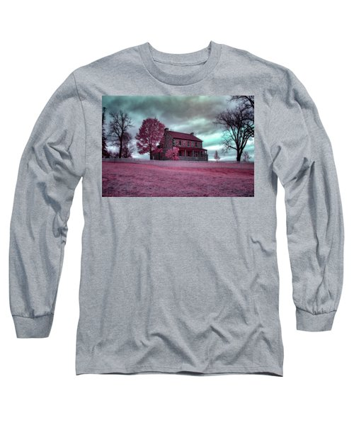 Rose Farm In Infrared Long Sleeve T-Shirt