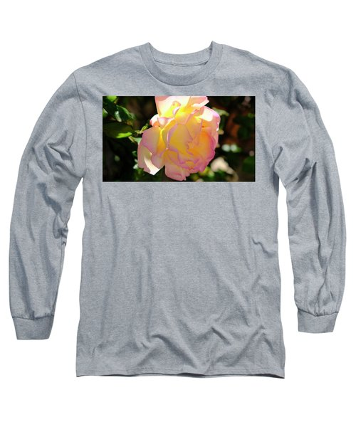 Long Sleeve T-Shirt featuring the photograph Rose Illuminated by August Timmermans