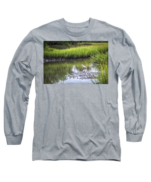 Roseate Spoonbill - Feeding Long Sleeve T-Shirt