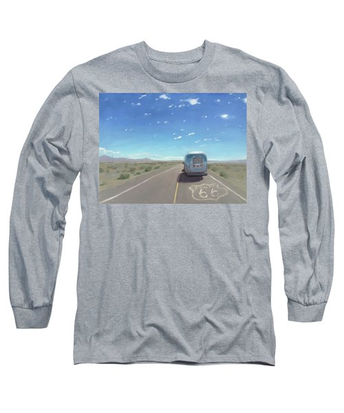Route 66, Somewhere In California Long Sleeve T-Shirt