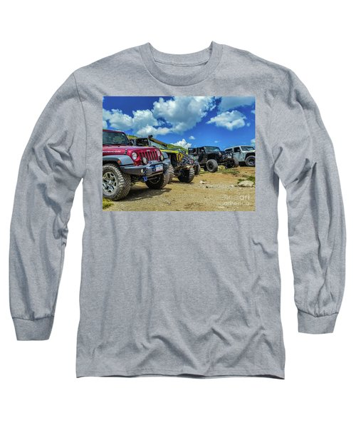 Row Of Jeeps Long Sleeve T-Shirt