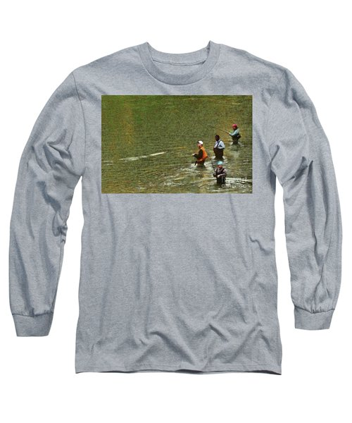 Salmon Fishing Nisqually River Long Sleeve T-Shirt