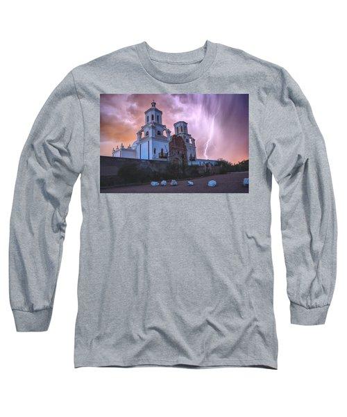 San Xavier Mission Lightning Long Sleeve T-Shirt
