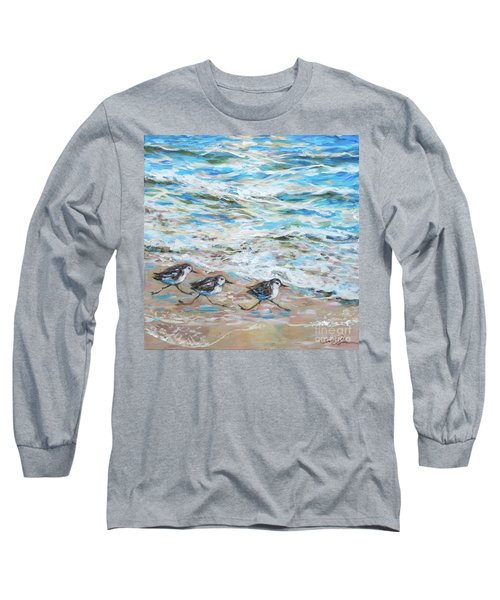 Sanderlings Running Long Sleeve T-Shirt
