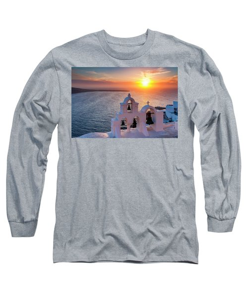 Santorini Sunset Long Sleeve T-Shirt
