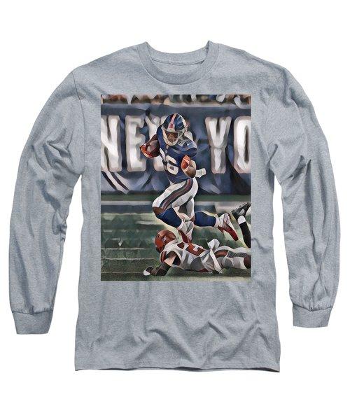 e15708c5690 Saquon Barkley New York Giants Abstract Art 2 Long Sleeve T-Shirt