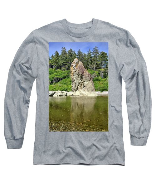 Sea Stack At Ruby Beach  Long Sleeve T-Shirt