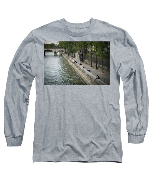 Long Sleeve T-Shirt featuring the photograph Seine by Jim Mathis