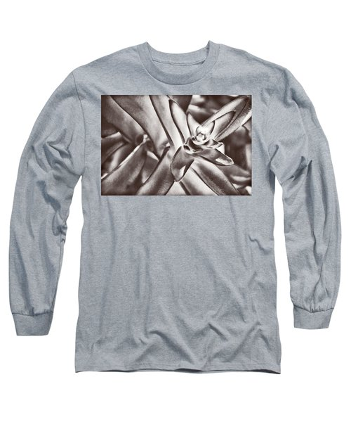 Long Sleeve T-Shirt featuring the photograph Sensual Succulent I by Leda Robertson