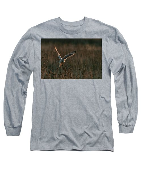 Short Eared Owl Liftoff Long Sleeve T-Shirt