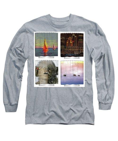 Shower Curtains Samples Long Sleeve T-Shirt