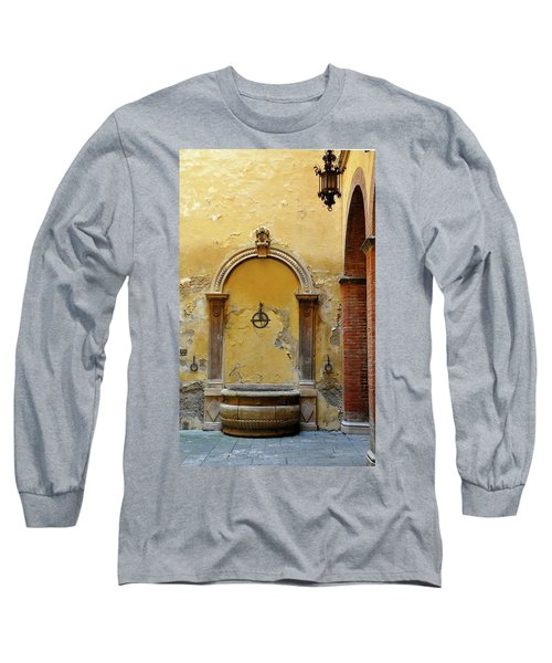 Sienna Fountain Courtyard Long Sleeve T-Shirt