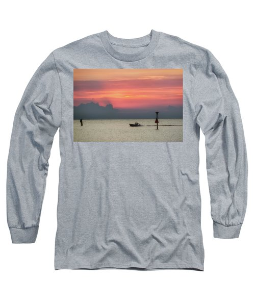 Silhouette's Sailing Into Sunset Long Sleeve T-Shirt