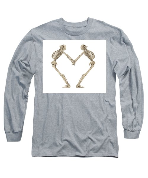 Skeleton Yoga 001 Long Sleeve T-Shirt