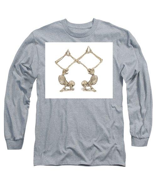 Skeleton Yoga 002 Long Sleeve T-Shirt