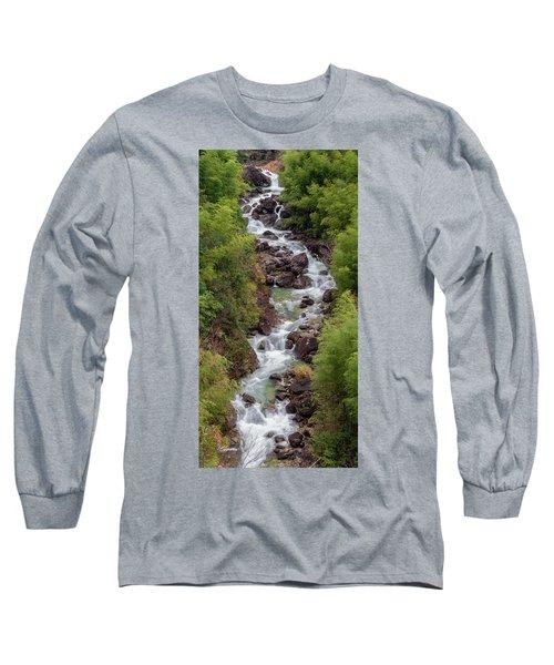 Small Cascade 1x2 Vertical Long Sleeve T-Shirt