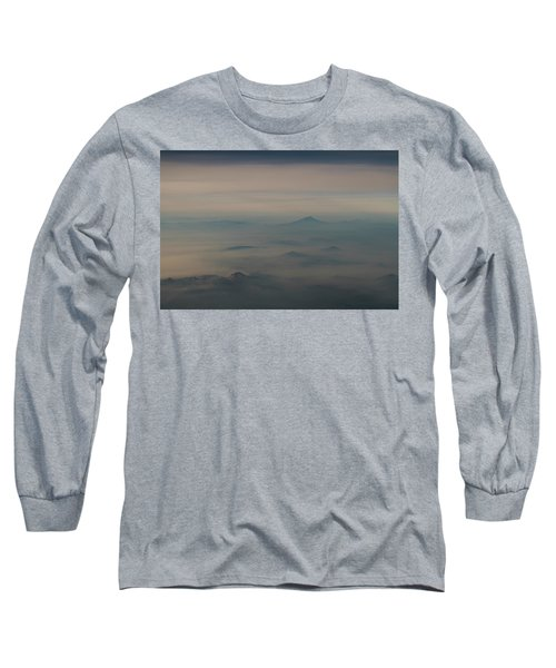 Long Sleeve T-Shirt featuring the photograph Smoke From A Distant Fire by Alex Lapidus
