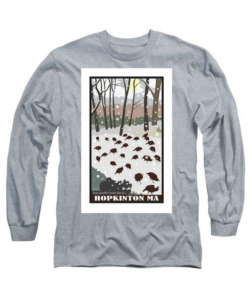 Snow Day In Hopkinton Long Sleeve T-Shirt