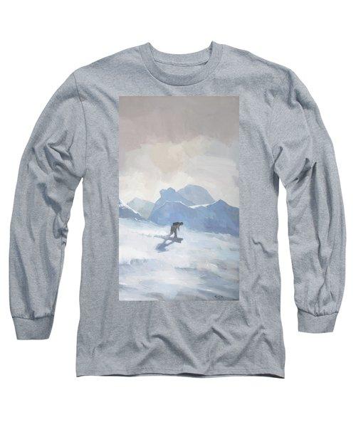 Snowboarding At Les Arcs Long Sleeve T-Shirt