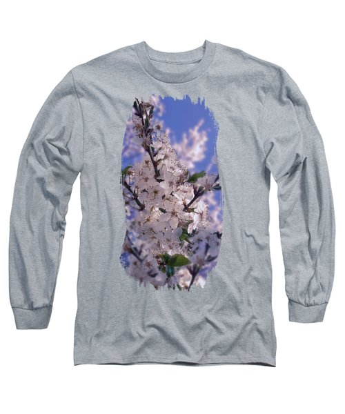 Sour Cherry Tree Blue Sky Long Sleeve T-Shirt