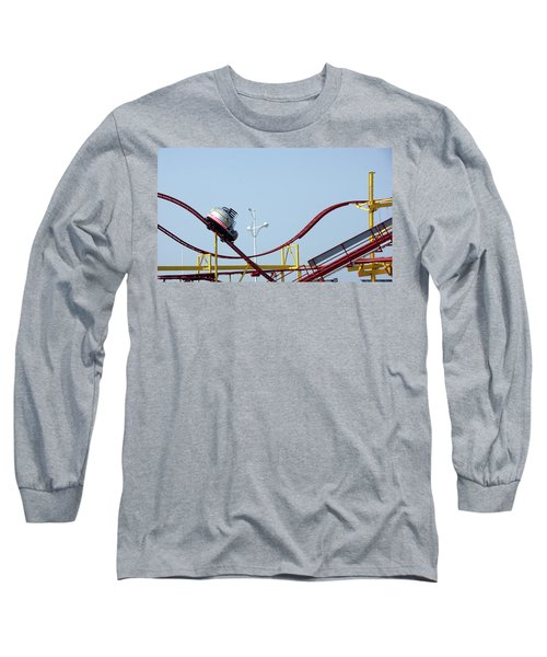 Southport.  The Fairground. Crash Test Ride. Long Sleeve T-Shirt