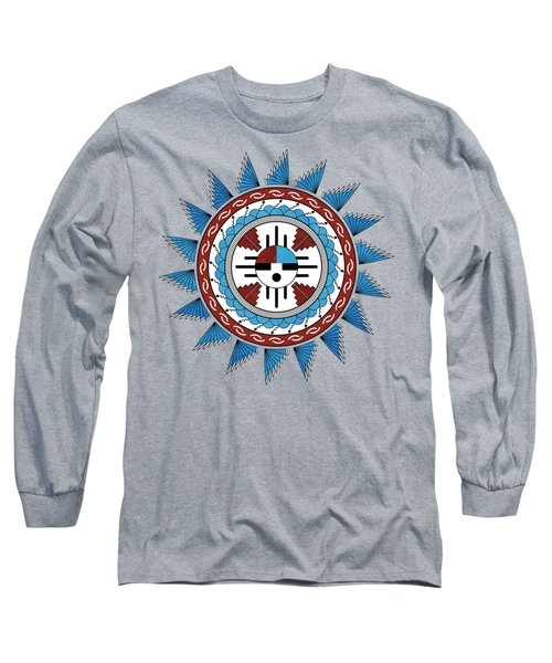 Southwest Native American Art Mandala Long Sleeve T-Shirt