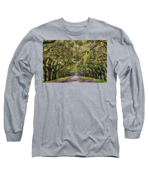 Spanish Moss Tree Tunnel Long Sleeve T-Shirt