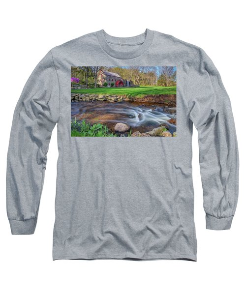 Springtime At The Grist Mill Long Sleeve T-Shirt