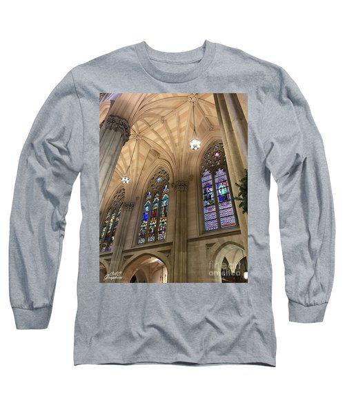 St Patricks Stained Glass Long Sleeve T-Shirt
