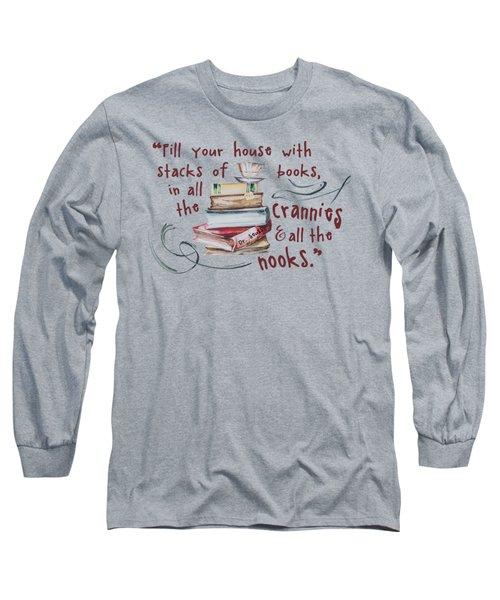 Stacks Of Books Long Sleeve T-Shirt