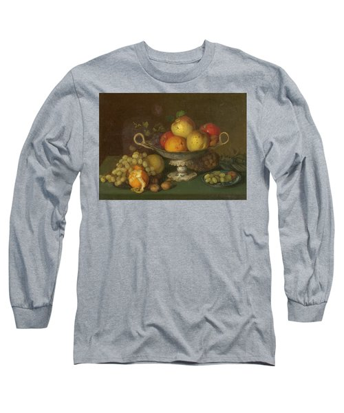 Still Life With Fruit, 1844 Long Sleeve T-Shirt