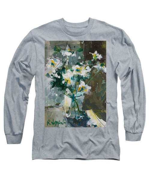 Still Life With White Anemones Long Sleeve T-Shirt