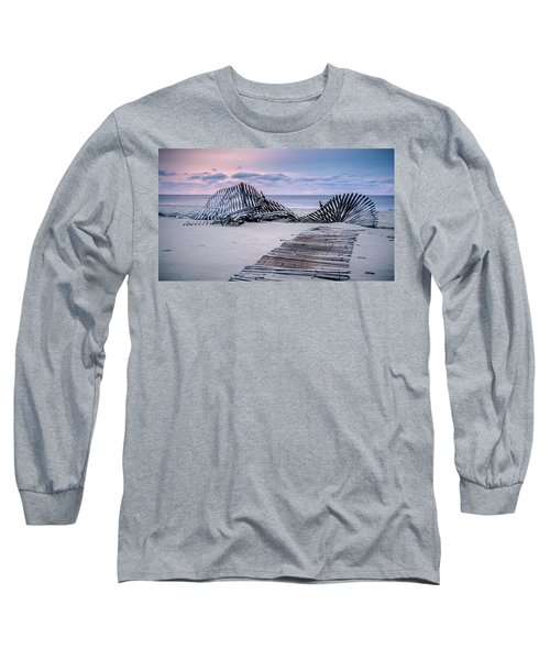 Storm Fence Sunrise Long Sleeve T-Shirt