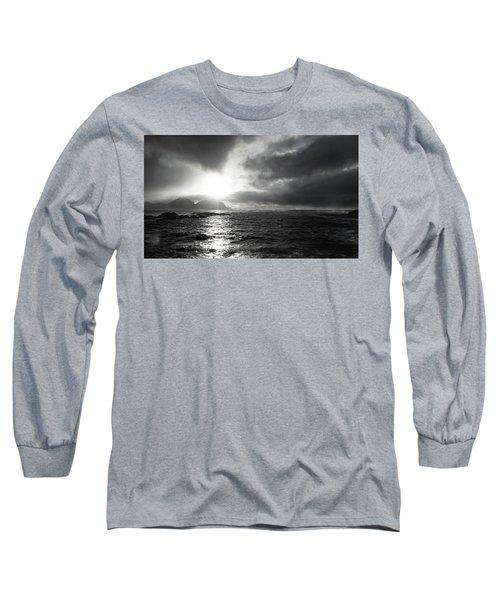 stormy coastline in northern Norway Long Sleeve T-Shirt