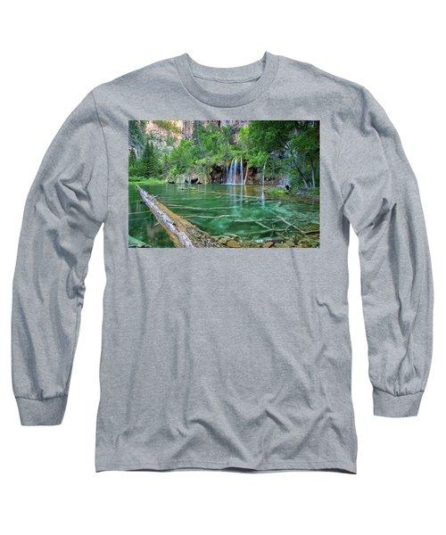 Submerged Log, Hanging Lake Colorado Long Sleeve T-Shirt