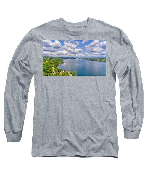 Summer Clouds On Keuka Lake Long Sleeve T-Shirt