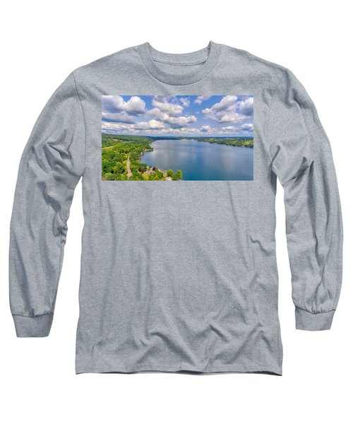 Summer Clouds On Keuka Lake Long Sleeve T-Shirt