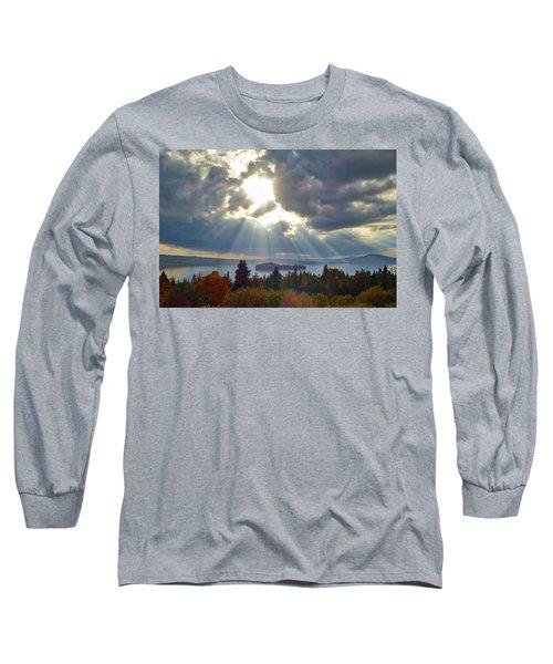 Sun Rays Over Rangeley Lake Long Sleeve T-Shirt