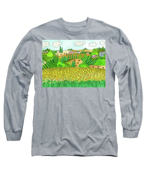 Sunflower French Countryside Long Sleeve T-Shirt