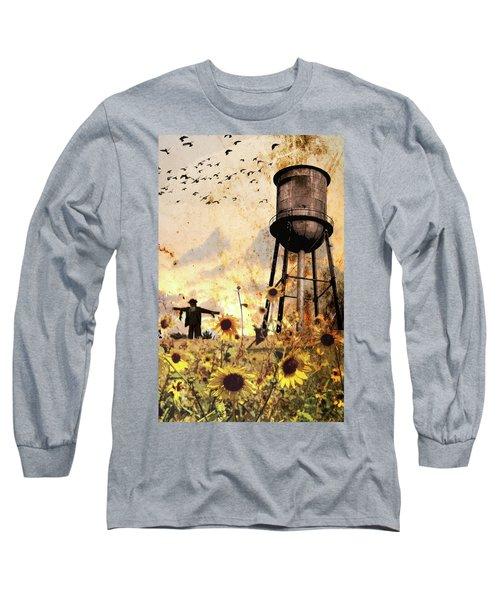 Sunflowers At Dusk Long Sleeve T-Shirt