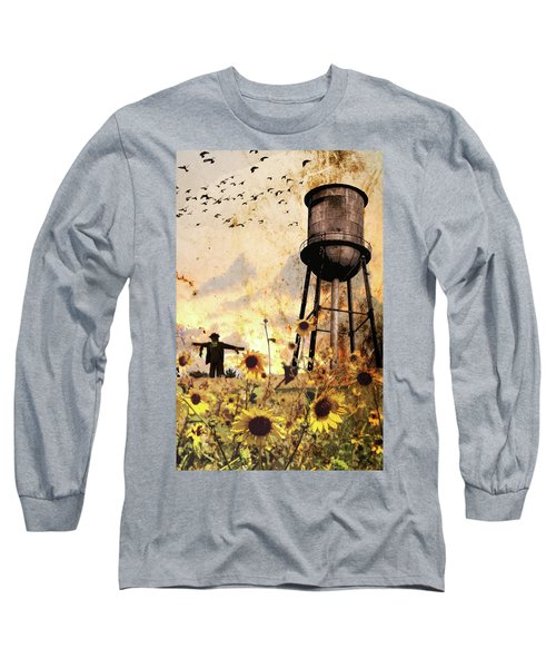Sunflowers At Dusk Long Sleeve T-Shirt