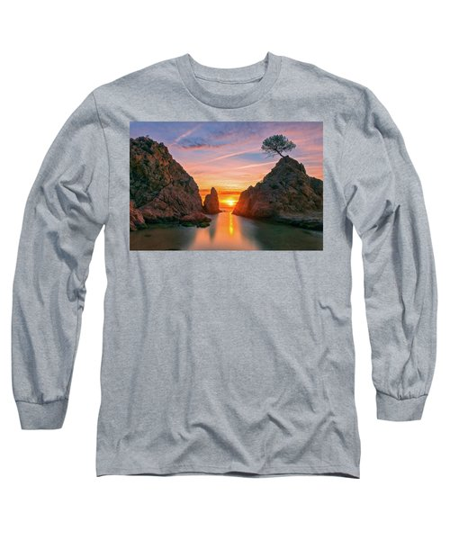 Sunrise In The Village Of Tossa De Mar, Costa Brava Long Sleeve T-Shirt