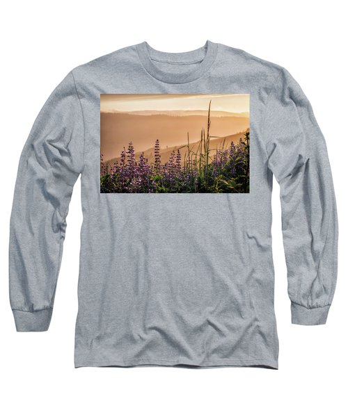 Sunset Among The Lupine Long Sleeve T-Shirt